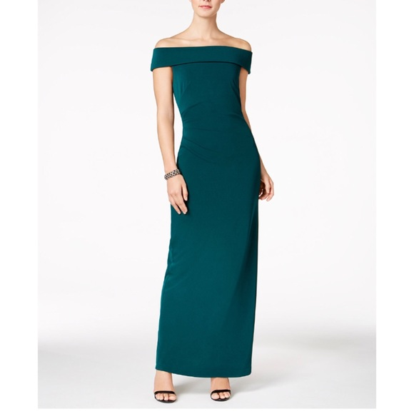Vince Camuto Dresses | Jersey Off The Shoulder Gown | Poshmark